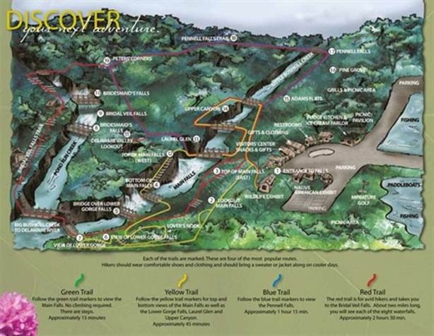 Bushkill falls map