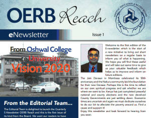 Oshwal Education and Relief Board  OERB  Reach eNewsletter – Issue 1   Oshwal USA.org